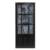 "Skeleton Miniature Door Sign 31"" Tall Halloween Spooky Party Home decora... - ₨3,310.04 INR"