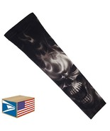 COMPRESSION ARM SLEEVE Evil Skull Black Smoke SPORTS PROTECTION SMALL S ... - $8.90