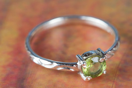 Amazing Faceted Peridot Gemstone Sterling Silver Ring All size BJR-529-PRC - €8,59 EUR+