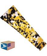 COMPRESSION ARM SLEEVE Yellow Digital Camo Camouflage QUICK DRY MEDIUM M... - $8.90