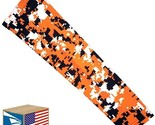 COMPRESSION ARM SLEEVE Orange Digital Camouflage HUNTING SPORTS YOUTH LARGE YL!
