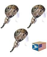 3 LOT SKULL CAP HAT Real Tree Camo Camouflage HUNTING DU DO DOO RAG NEW SALE! - $9.89