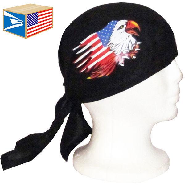 12 LOT SKULL CAP HAT USA Torn Flag American Bald Eagle DU DO DOO RAG SALE NEW!