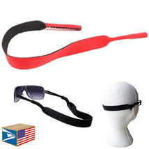 2 LOT NEOPRENE SUNGLASSES SPORT BAND Red EYEGLASSES READING GLASSES STRA... - $7.91