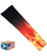 COMPRESSION ARM SLEEVE Blazing Fire Flames QUICK DRY SPORTS PROTECTION L... - $8.90