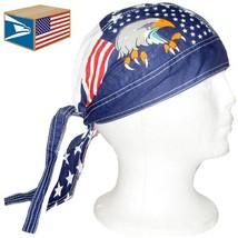 12 LOT SKULL CAP HAT USA American Eagle Flag DU DO DOO RAG NEW WHOLESALE... - $23.75