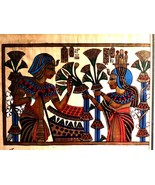 Pharonic Egyptian Art on Papyrus Paper Royal Tombs & Temples Made in Egy... - $14.85