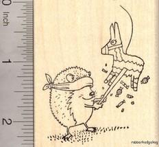 Hedgehog Hitting Donkey Pinata Rubber Stamp, Bi... - $14.95
