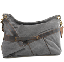 Shoulder Messenger Bag Canvas and large capacity Muchuan 6225 Dark Grey - $126.98