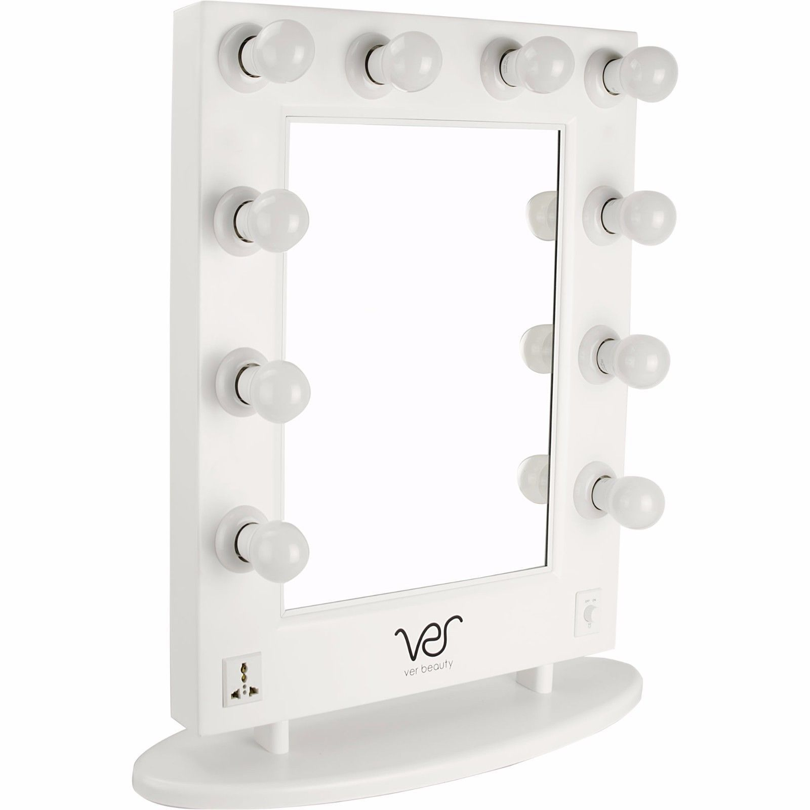 Vanity Mirrors With Lights Free Standing : Free Standing Mirror Vanity With Lights White Beauty Tabletop Hollywood Style - Compact Mirrors