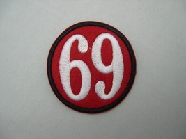 BIKER PERSONALIZED PATCH 13 or 69 or ANY NUMBER DESIGN YOUR OWN + CHOOSE... - $3.99