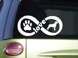 Rottweiler Infinity sticker *H419* 4 x 8.5  inch vinyl dog decal - $3.39