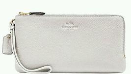 NWT - Coach #F54056 Chalk White Double Zip Wall... - $85.00