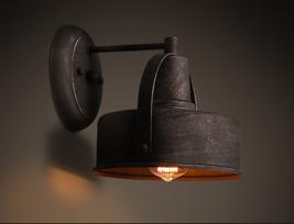 Vintage Metal Shade Sconce Antique Black E27 Light Wall Lamp Home Lighting Cafe - $96.53