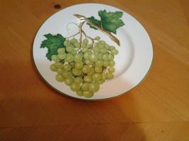 "American Atelier, Vineyard  #5039 Porcelian Salad Plate 8.25""  White Gra... - $5.35"