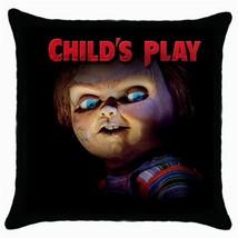 Chucky  Childs Play Black Cushion Cover Throw Pillow Case - $281,89 MXN