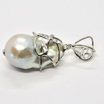 Silver Pendant 925 with Pearl White Fw Handmade Pendant Single image 5