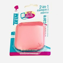 Trim 2-in-1 Dual Magnification Compact Purse Mirror Pink Face Beauty 1X ... - $14.50