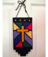 Stained Glass Look Cross Wall/Window/Home Decor... - $8.00