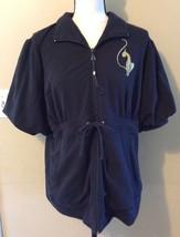 BABY PHAT Short Sleeve CAT Logo Waist Tie Sweatshirt Shirt Jacket PLUS S... - $34.82