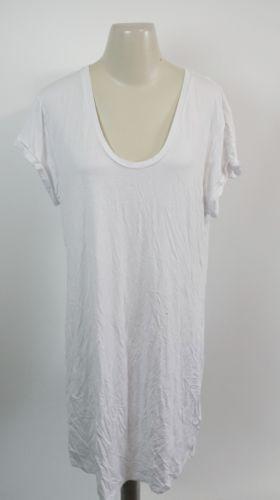L'AGENCE | Gathered Back Jersey T-Shirt Dress women's sz L - $125 white L6965RSJ image 2