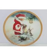 Santas Littlest Reindeer Puppy Collector Plate Hamilton Lisi Martin Chri... - $59.95