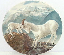 Mountain Goats Baby Collector Plate Gentle Persuasion Wildlife Hicks Kno... - $59.95