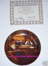 Norman Rockwell Collector Plate Father's Help Bradford Exchange Vintage ... - $14.97