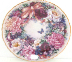 Circle Love Collector Plate Lena Liu Floral Greetings Flower Floral Butt... - $59.95