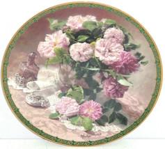 Springtime Elegance Collector Plate Vieonne Morley Romantic Roses Flower... - $59.95