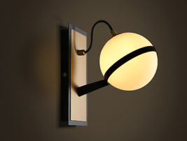 Modern Globe Sconce G9 Light Wall Lamp Milk Glass Cafe Home Lighting Fixture - $113.99