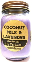 Coconut Milk & Lavender 16oz All Natural Country Jar Soy Candle Apx Burn... - $13.45