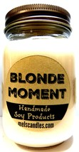Blonde Moment 16oz All Natural Country Jar Soy Candle - Wonderful Floral... - $13.45