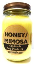 Honey & Mimosa 16oz All Natural Country Jar Soy Candle - Apx Burn Time 1... - €11,42 EUR