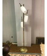 MCM Danish Pole Style 3-light adjustable White Glass Shades Floor Lamp - $422.74