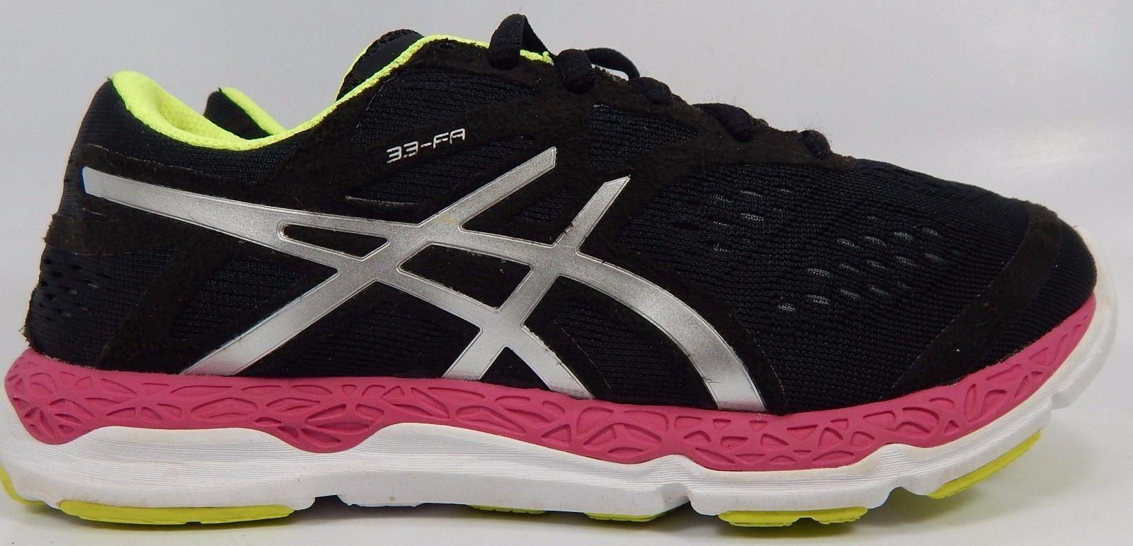 Asics Gel 33-FA Women's Running Shoes Size US 6 M (B) EU 37 Black Pink T583N