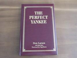 DON LARSEN YOGI BERRA THE PERFECT YANKEE HOF SIGNED 3X AUTO LEATHER BOOK... - $346.49