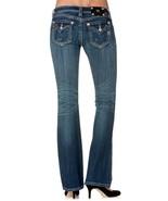 NWT MISS ME Vintage Crystal Flap Pocket Boot Cut Western Denim Jeans SZ 25 - $59.99