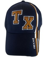 Texas TX with Stripes Men's Adjustable Curved Brim Baseball Cap Hat NAVY... - $8.95
