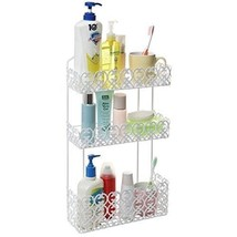 Bathroom Wall Organizer 3 Tier Shelf Basket Product Holder Decorative Ra... - $49.19