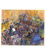 Raoul Dufy 1942 GRAVURE PRINT with COA. perfect ORCHESTRA music gift of ... - $349.00