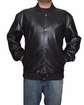 Men's Leather Jacket Handmade Black Motorcycle Solid Lambskin Leather Coat-HWL9 - $132.05