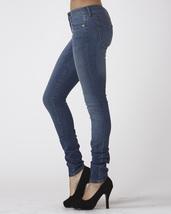 Stretch Skinny Medium Wash Denim Jeans Mid Rise Pants Scarlet Boulevard image 3