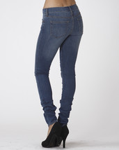 Stretch Skinny Medium Wash Denim Jeans Mid Rise Pants Scarlet Boulevard image 2