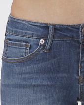 Stretch Skinny Medium Wash Denim Jeans Mid Rise Pants Scarlet Boulevard image 6