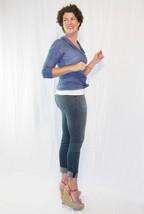 Stretch Skinny Medium Wash Denim Jeans Mid Rise Pants Scarlet Boulevard image 4