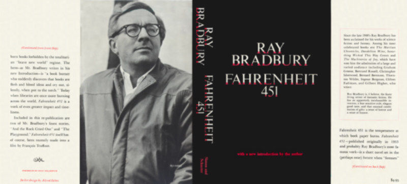 Ray Bradbury FAHRENHEIT 451 1967 black edition facsimile jacket
