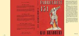 Ray Bradbury Fahrenheit 451 facsimile dust jacket for first UK edition book - $21.56