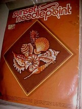 1978 Sunset Wayne Maurer Gems from the Sea Needlepoint Kit 12 x 12 New - $39.59