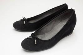 Stuart Weitzman 7 Black Wedge Ballet Shoes - $98.00